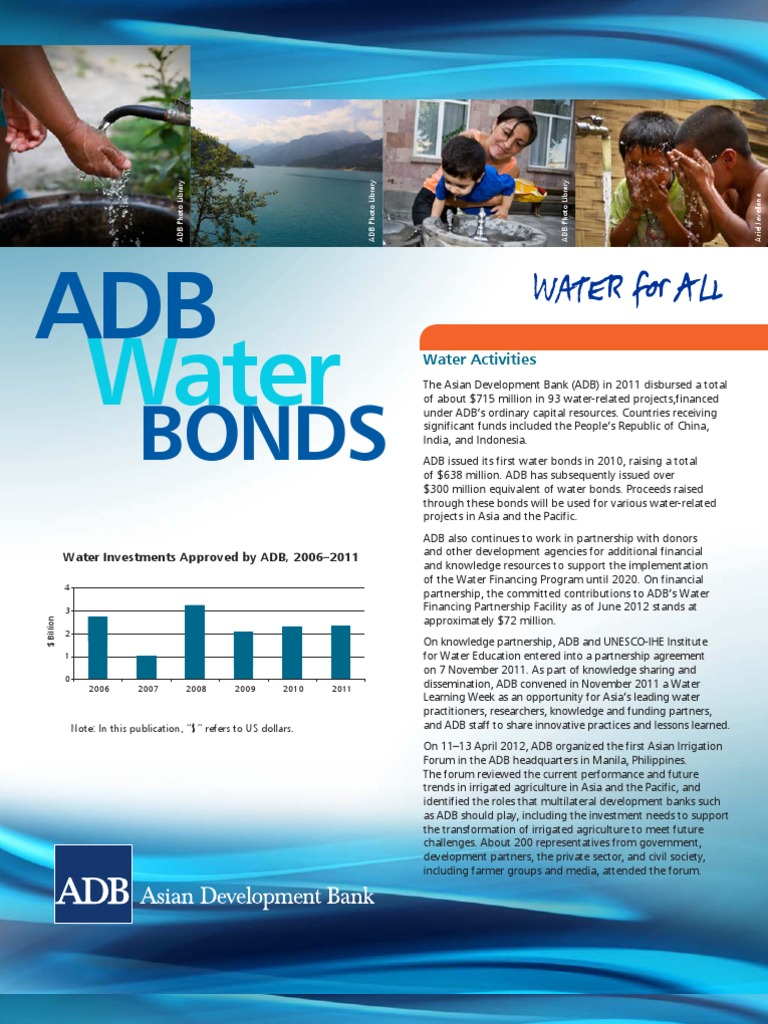 ADB Water Bonds Brochure 2012 | Asian Development Bank | Water ...
